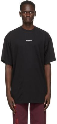 Vetements Black Logo Patch T-Shirt