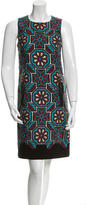 Andrew Gn Sleeveless Jacquard Dress
