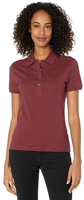 Lacoste Short Sleeve Slim Fit Stretch Pique Polo (Clusi) Women's Clothing