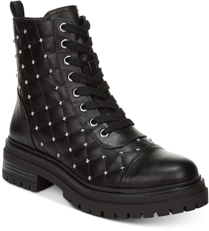 99f522fabe7 Goodwin Studded Combat Boots Women Shoes