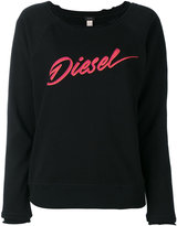 Diesel scoop neck sweater - women - Cotton/Polyester - XS