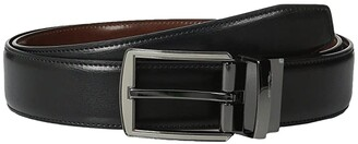 Perry Ellis Portfolio Matte and Hi Shine Buckle Reversible Dress Belt