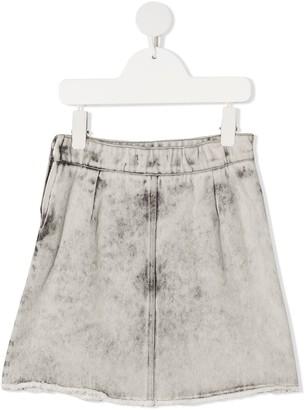 Andorine Stonewashed Denim Skirt