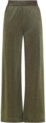 Missoni Metallic Crochet-knit Wide-leg Pants