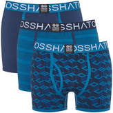 Crosshatch Men's 3 Pack Causeway Boxer Shorts - Insignia Blue