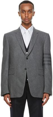 Thom Browne Grey Felted 4-Bar Classic Sport Coat Blazer