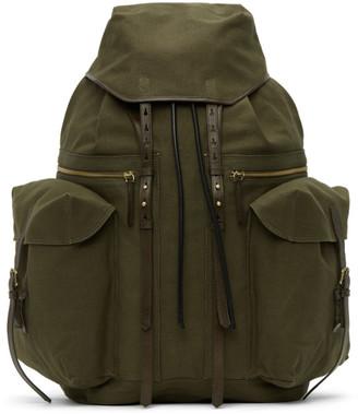 Dries Van Noten Khaki Canvas Backpack