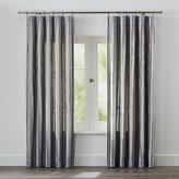 Crate & Barrel Kendal Grey Striped Curtains