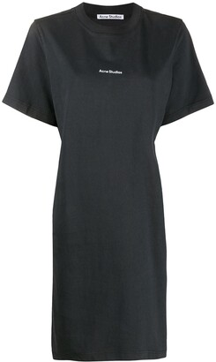 Acne Studios logo-print T-shirt dress