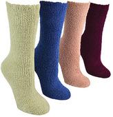 """Muk Luks Women's 8"""" Micro Chenille Sock (4 Pair)"""