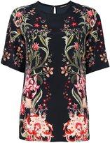 Roberto Cavalli floral print T-shirt - women - Silk - 42