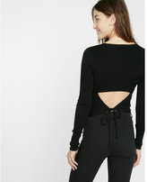 Express open-back fitted sweater