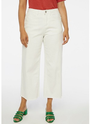 Compania Fantastica Wide Leg Trousers with High Waist in Cotton Mix