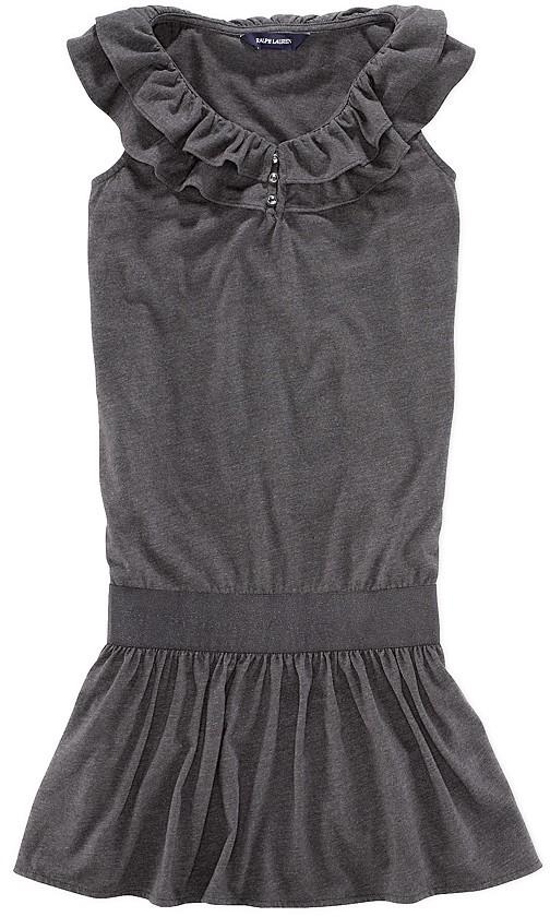 Ralph Lauren Girls' Ruffle Dress - Sizes S-XL