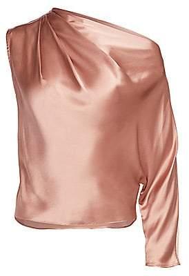 Mason by Michelle Mason Women's One-Sleeve Silk Drape Top