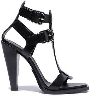 Balmain Buckled Leather Sandals