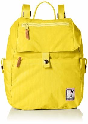 LOLA Cosmetics Mondo Lark Large Flap Drawstring Backpack w/Pocket