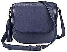 GiGi New York Embossed Leather Crossbody Bag