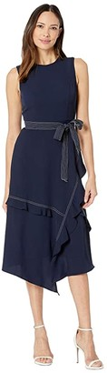 Calvin Klein Contrast Stitch Dress (Twilight) Women's Dress