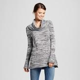 Women's Marled Cowlneck Sweater Tunic - Heather B