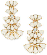 INC International Concepts INC International Gold-Tone White Stone Layered Drop Earrings, Created for Macy's