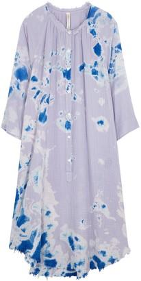Raquel Allegra Poet tie-dye gauze midi dress