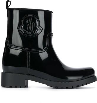 Moncler Logo Short Wellington Boots