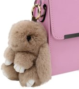 ILOVEDIY Bunny Keychain Rabbit Fur Ball Key Chains Pom Pom Key Ring Bag Pendant