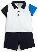 Giorgio Armani Infant Boys' Color Block Polo Shirt & Shorts Set - Sizes 9-24 Months