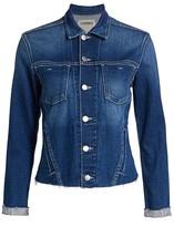 L'Agence Janelle Slim-Fit Distressed Denim Jacket