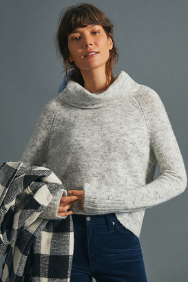 Anthropologie Glenna Cowl Neck Sweater By in Grey Size XS