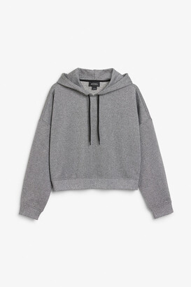 Monki Cropped hoodie