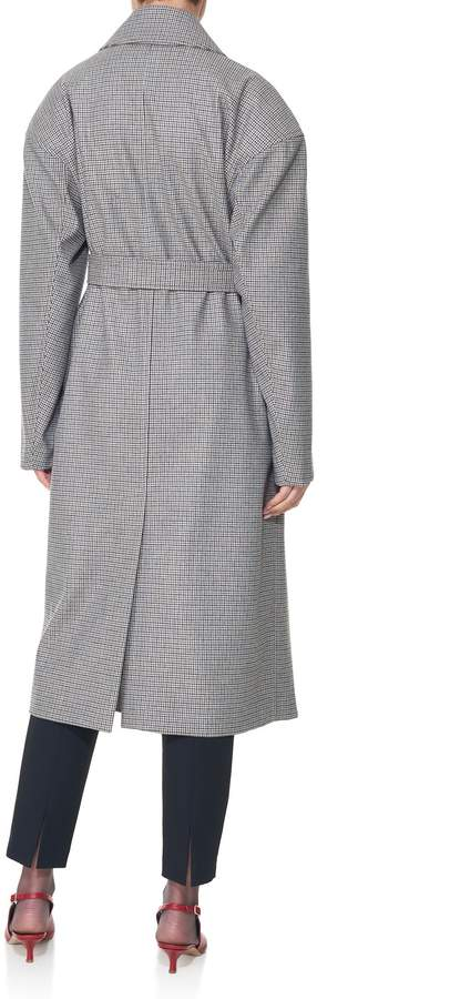 Tibi Atticus Houndstooth Oversized Trench