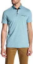 Ted Baker Short Sleeve Allover Print Polo Shirt