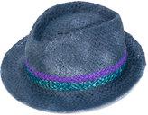 Le Chapeau striped panel hat - women - Acrylic/Paper Yarn - 57