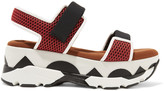 Marni Mesh and leather platform sandals