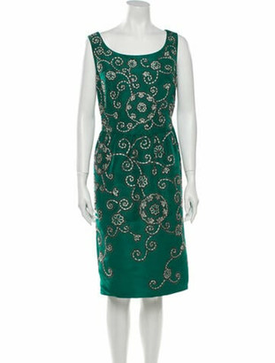 Oscar de la Renta 2017 Knee-Length Dress Green