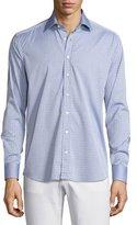 Etro Pinwheel Jacquard Sport Shirt, Light Blue