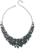 Charter Club Silver-Tone Imitation Pearl Shaky Collar Necklace, Only at Macy's