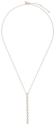 Ef Collection 14kt gold diamond rear drop necklace
