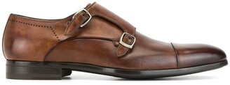 Magnanni Polished Monk Shoes