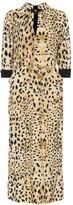 Thumbnail for your product : Prada Leopard-printed sablA dress
