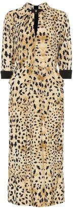 Prada Leopard-printed sablA dress