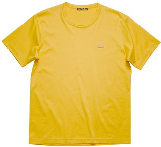Acne Studios Classic Cotton Logo T-shirt Honey Yellow