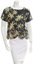 Suno Silk Short Sleeve Top