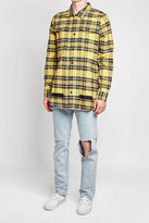 Off-White Distressed Plaid Shirt