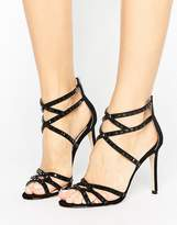 Faith Leigh Embellished Strappy Heeled Sandals