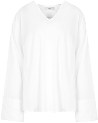 A Line Clothing Blouse With Pleated Cuffs