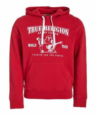 True Religion Men's Crop Long Sleeve Pullover Hoodie