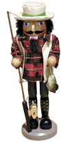 Asstd National Brand Santa's Workshop 14 Bass Fisherman Nutcracker